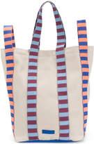 Marni striped handles tote bag