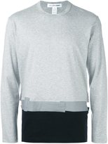 Comme des Garcons colour block sweatshirt - men - Cotton - L