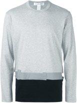 Comme des Garcons colour block sweatshirt