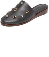 Tibi Kirsi Beaded Demi Wedge Slides