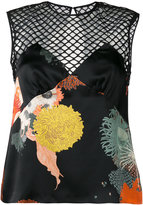 Dries Van Noten cut out patterned top