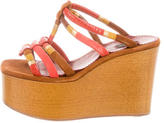 Marc Jacobs Suede Multistrap Wedge Sandals