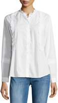 MiH Jeans Ile Modern Frill Shirt, White