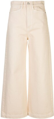 Proenza Schouler White Label High Rise Wide Jeans