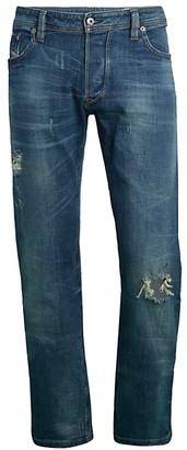 Diesel Larkee Distressed Straight Jeans