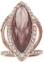 JLO by Jennifer Lopez Marquise Halo Double Ring