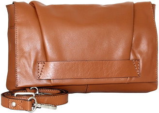 Nino Bossi Handbags Women's Handbags Cognac - Cognac Stephanie Convertible Leather Crossbody Bag