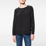 Paul Smith Women's Black Silk Long-Sleeved Top