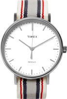 Timex - Fairfiel Pavillion Stainless Steel And Webbing Watch