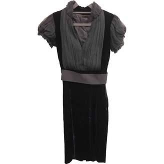 Alexander McQueen Blue Velvet Dresses
