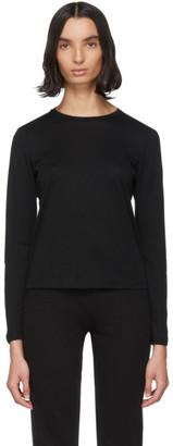 John Elliott Black Cotton High Twist Classic Long Sleeve T-Shirt