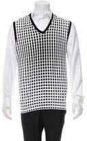 Vneck Printed V-Neck Vest w/ Tags