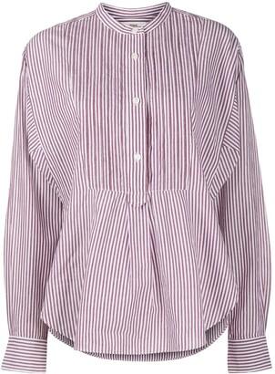 Etoile Isabel Marant Pleated-Bib Striped Shirt