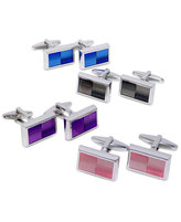Kenneth Cole Reaction Cufflinks, Colored Ombre Enamel Cufflinks Boxed Set