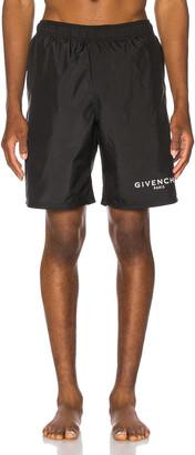 Givenchy Flat Classic Swim Bermuda Short in Black | FWRD