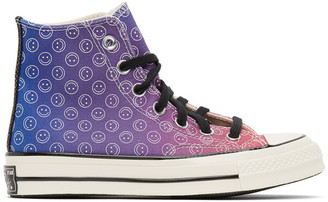 Converse Purple and Blue Happy Camper Chuck 70 High Sneakers
