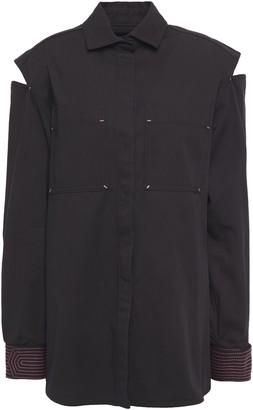 Valentino Cutout Cotton-twill Shirt