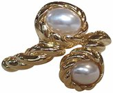 Kenneth Jay Lane Polished Gold Plated Rope Faux Pearl Bracelet