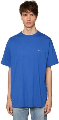 Balenciaga COPYRIGHT CREWNECK COTTON T-SHIRT