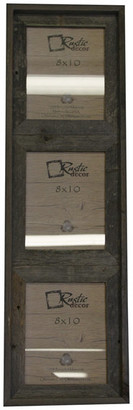 "Rustic Decor Llc Barstow Reclaimed Rustic Barn Wood Vertical Collage Frame, 8""x10"""