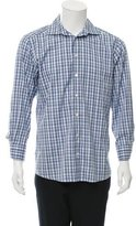 Eton Plaid Button-Up Shirt