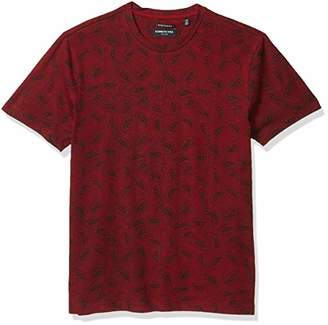 Kenneth Cole Men's Short Sleeve Crew Neck Paisley Print Shirt