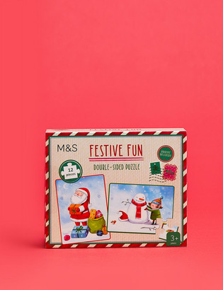 Marks and Spencer Mini Christmas 2 In 1 Jigsaw Puzzle
