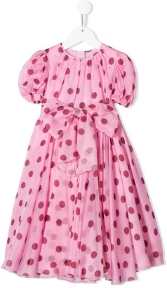 Dolce & Gabbana Kids Flared Polka Dot Dress