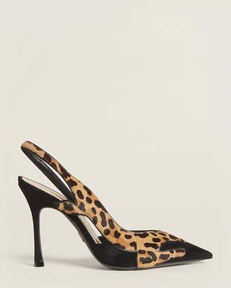 Christian Dior Black Feline Slingback Suede Pumps