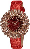 Burgi Women's BUR112RD Crystal Accented Red Quartz Watch with Red Dial and Red Bracelet