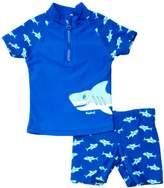 Playshoes Sun Protection 2 Piece Shark Boy's Swim Shorts - Blue