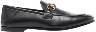 Gucci Brixton Black Leather Flats