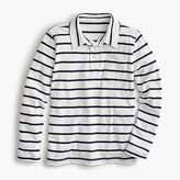 J.Crew Boys' thin-striped long-sleeve polo
