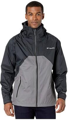 Columbia Rain Scapetm Jacket (Black/Black/City Grey/Black Zips) Men's Clothing