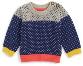 Toddler Boy's Boden Colorblock Sweater