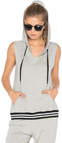Beyond Yoga Varsity Muscle Hoodie in Gray. - size M (also in )