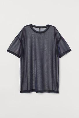 H&M Mesh T-shirt - Purple