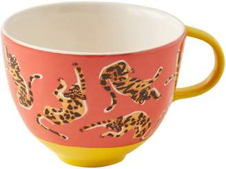 Anthropologie 52 Conversations Tiger Stoneware Mug