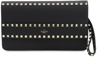 Valentino ROCKSTUD SMOOTH LEATHER POUCH