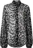 Saint Laurent leopard print blouse - women - Silk - 40