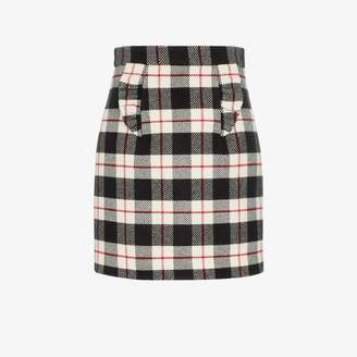 Miu Miu check A-line skirt