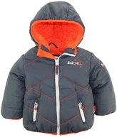 Big Chill Little Boys' Quilted Puffer Jacket with Sherpa Hood