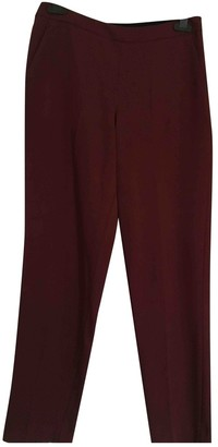 Whistles Burgundy Wool Trousers for Women