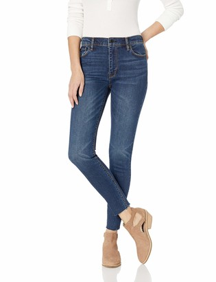 Hudson Women's Barbara High Rise Super Skinny Fit Raw Ankle Jean