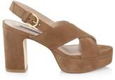 Stuart Weitzman Jerry Platform Suede Sandals