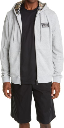 Burberry Hove Logo Applique Cotton Hoodie