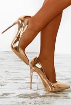 Pink Boutique Glow Getter Rose Gold Patent Court Shoes