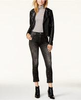 Hudson Harper Embellished Cropped Skinny Jeans