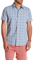 Grayers Sutton Poplin Plaid Regular Fit Short Sleeve Shirt