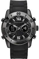Sean John Men's Black Analog Digital Silicone Watch